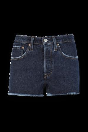 מכנסי ג'ינס 501 קצרים בשטיפה כהה LEVI`S