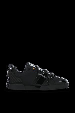 Portofino Lace Up Sneakers in Black DOLCE & GABBANA
