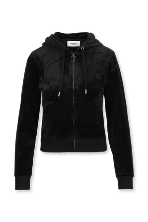 Black Classic Velour Hoodie JUICY COUTURE