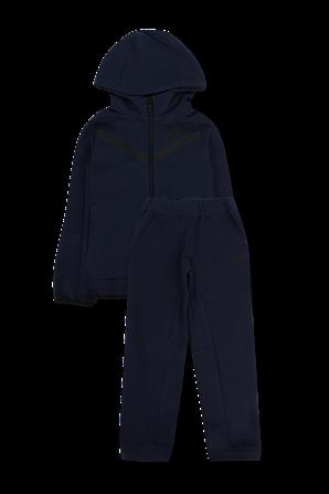 גילאי 2-4 סט ארוך מכנסיים וסווטשירט ממותגים בגוון כחול כהה NIKE