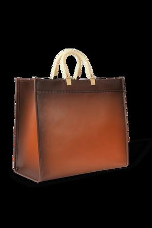Sunshine Leather Large Bag in Brown FENDI