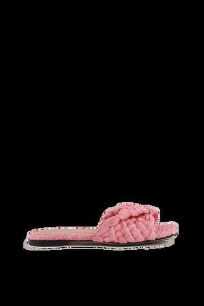 Stretch Felt Sandals in Pink BOTTEGA VENETA