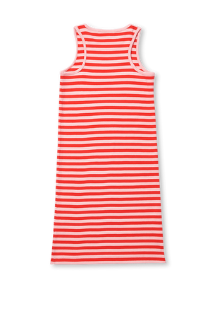 גילאי 2-12 שמלת פסים עם לוגו LACOSTE KIDS