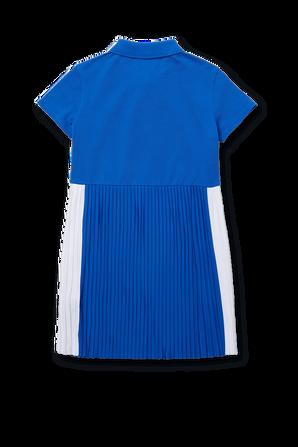 גילאי 2-12 שמלת פליסה בכחול רויאל LACOSTE KIDS