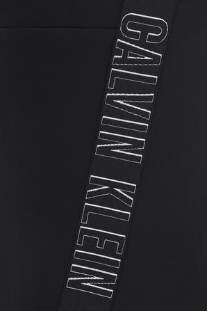 Front Zip Intense Power Swimsuit in Black CALVIN KLEIN