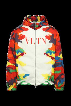 VLTN Camo Puffy Coat in Multicolor VALENTINO