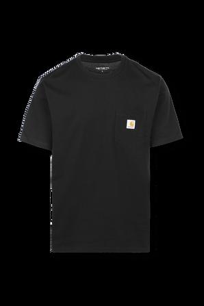חולצת טי עם כיס חזה בצבע שחור CARHARTT WIP