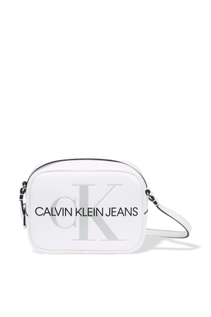Camera Bag in White CALVIN KLEIN
