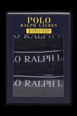 Black Stretch Cotton Trunk 3 Pack POLO RALPH LAUREN