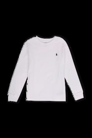 גילאי 2-4 חולצת טי ארוכה בלבן עם רקמת לוגו POLO RALPH LAUREN KIDS