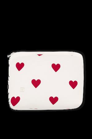 תיק קטן עם הדפס לבבות באדום ולבן PETIT BATEAU