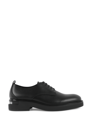 Black Leather Shoes DSQUARED2