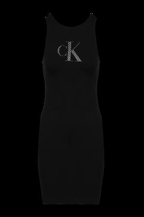 Logo Bodycon Dress in Black CALVIN KLEIN