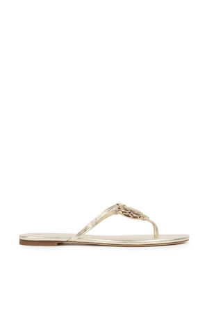 Miller Knotted Sandals in Silver TORY BURCH