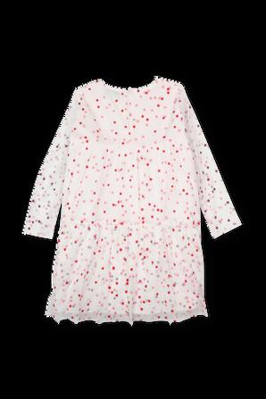 גילאי 2-14.5 שמלת נקודות אדום ושמנת STELLA McCARTNEY KIDS