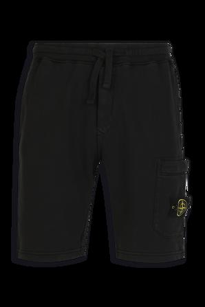 Fleece Shorts in Black STONE ISLAND