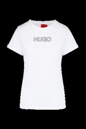 The Slim Hugo Tee In White HUGO