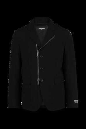 Zip Button Up Blazer in Black DSQUARED2