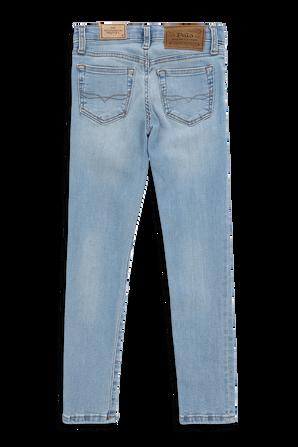 גילאי 5-7 מכנסי ג'ינס בשטיפה כחולה בהירה POLO RALPH LAUREN KIDS