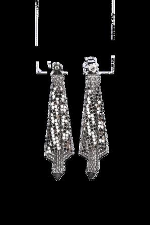 Fold Mesh Earrings in Silver PACO RABANNE