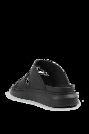 Slide Sandals in Black ALEXANDER MCQUEEN