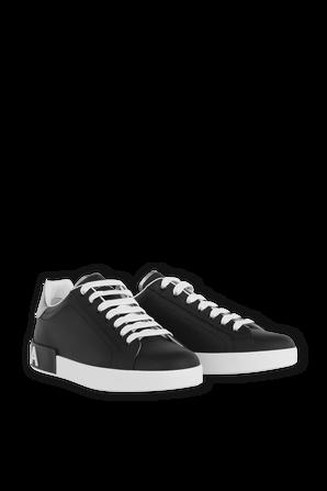Portofino Leather Sneakers In Black DOLCE & GABBANA