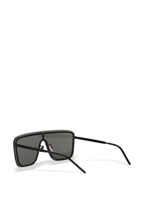 Shield Sunglasses in Silver SAINT LAURENT