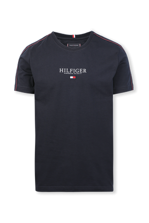 Taped Hilfiger T-Shirt in Dark Blue TOMMY HILFIGER