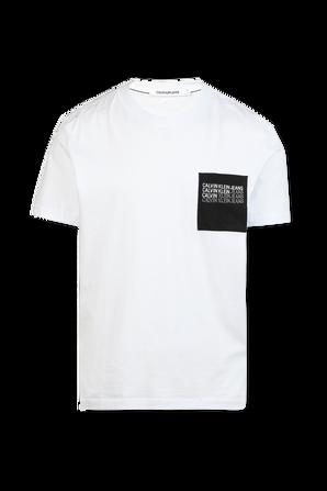 Repeat Shadow Logo Tshirt in White CALVIN KLEIN
