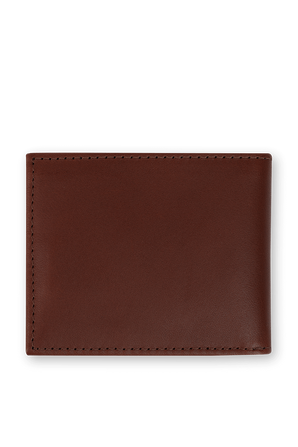 Leather Wallet In Brown TOMMY HILFIGER