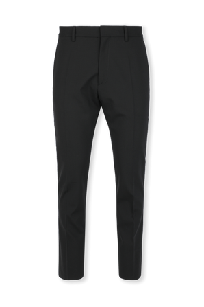 Worsted Stretch Wool Dan Trousers in Black DSQUARED2