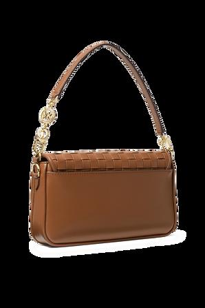 Bradshaw SM Woven Leather Shoulder Bag in Brown MICHAEL KORS