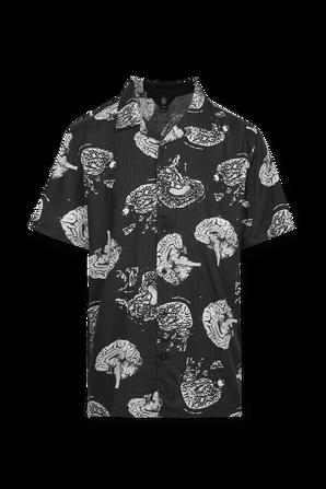 Tab Up Print Tshirt in White and Black VOLCOM