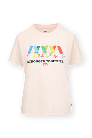 Stronger Together T Shirt in Pink LEVI`S