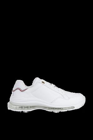 נעלי ריצה מעור בצבע לבן TOMMY HILFIGER