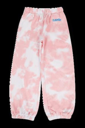 גילאי 4-6 מכנסיים ארוכים טאי דאי בגווני לבן וורוד LEVI`S KIDS