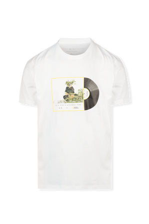 National Geographic Bear Print T-Shirt in White ARMANI EXCHANGE