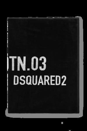 Cotton Logo Towel in Black DSQUARED KIDS