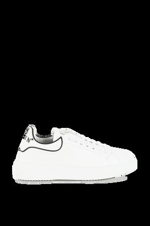 Leather Runner in White PHILIPP PLEIN