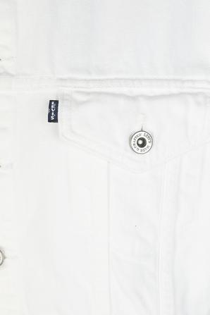Crop Denim Jacket in White LEVI`S