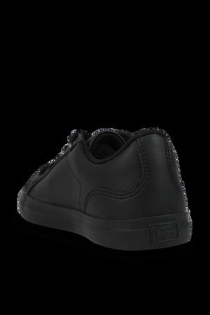 מידות 27-30 נעלי סניקרס עור קלאסיות בשחור LACOSTE KIDS