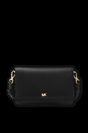 Pebbled Leather Smartphone Crossbody in Black MICHAEL KORS