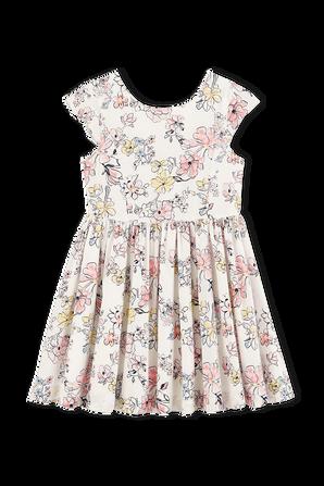 גילאי 3-5 שמלה קצרה בהדפס פרחוני PETIT BATEAU