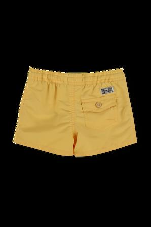 גילאי 2-4 בגד ים בצהוב POLO RALPH LAUREN KIDS