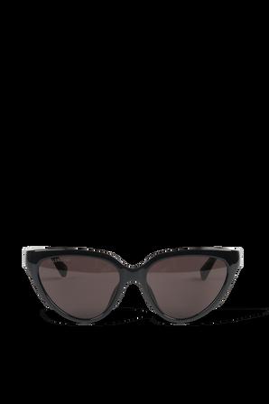Flat Butterfly Sunglasses in Black BALENCIAGA