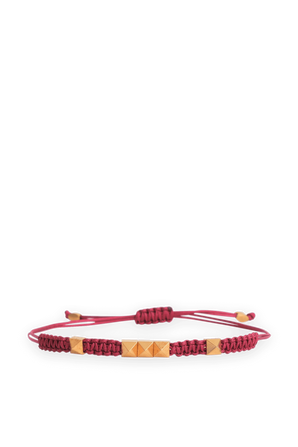 Pyrmid Bracelet in Red and Gold VALENTINO