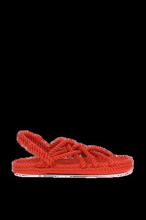 Cord Braids Sandals in Orange POLO RALPH LAUREN
