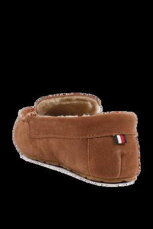 נעלי זמש עם לוגו בגוון חום TOMMY HILFIGER