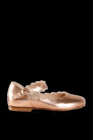 מידות 28-35 נעלי בלרינה זהב וורוד CHLOE KIDS