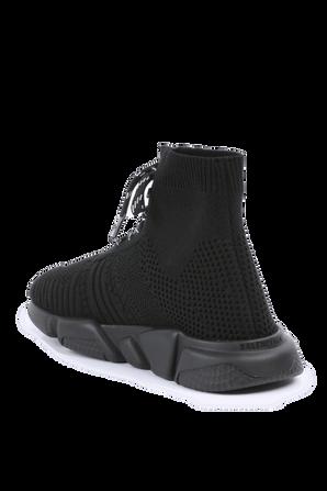 גילאי 23-32 נעלי גרב בשחור עם שרוכים BALENCIAGA KIDS
